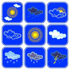 Free Vector Weather Icons. Stock Images - 8818084
