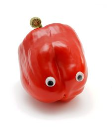 Free Funny Bell Pepper With Eyes Royalty Free Stock Image - 8818256