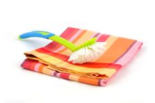 Free Dishtowel And Cleaning Brush Stock Photo - 8818430