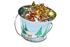 Free Miniture Holiday Bucket, Isolated Stock Photos - 8819073