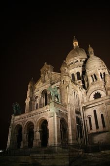 Free Sacre Coeur At Night, Paris, France Royalty Free Stock Images - 8819089