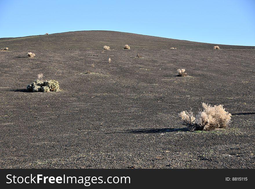 Volcanic desert