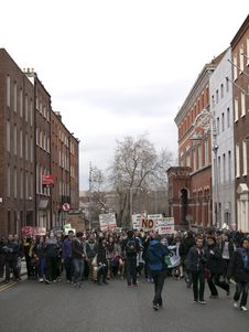 Free ACTA Protest On The Streets Of Dublin Stock Image - 88101241