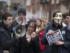 Free ACTA Protest On The Streets Of Dublin Royalty Free Stock Photo - 88101365
