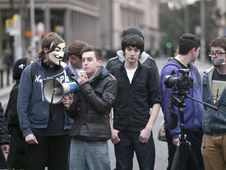 Free ACTA Protest On The Streets Of Dublin Royalty Free Stock Photography - 88101417
