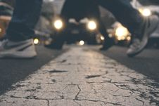 Free Feet Of Pedestrians Crossing Road Royalty Free Stock Image - 88104096