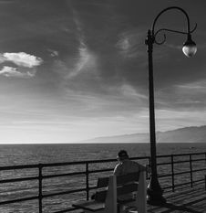 Free Gazing North From Santa Monica Pier CA Stock Images - 88188344