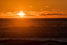 Free Pacific Sunset Royalty Free Stock Photos - 88190058