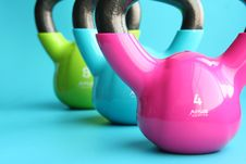 Free Colorful Kettlebells Royalty Free Stock Photo - 88191845