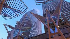 Free Art Outside Modern Skyscrapers Royalty Free Stock Image - 88192916