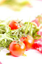 Free Raw Meet With Tomatoes Royalty Free Stock Photos - 8820548