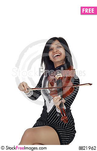Sexy Indian musician Stock Photo