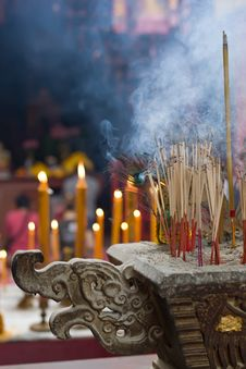 Free Joss Sticks Royalty Free Stock Photography - 8820027