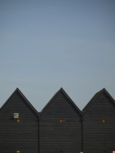 Free Fishermen S Huts Against Blue Sky Stock Images - 8820144