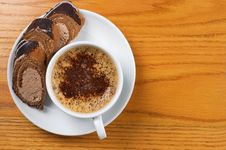 Free Cup Of Coffee With Dessert Royalty Free Stock Photo - 8820995