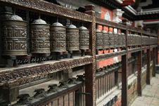 Free Prayer Wheel Royalty Free Stock Image - 8821456