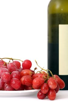 Red Grapes And Wine Stock Photography