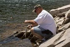 Free Man Trout Fishing In The Black Hills Royalty Free Stock Photos - 8821728
