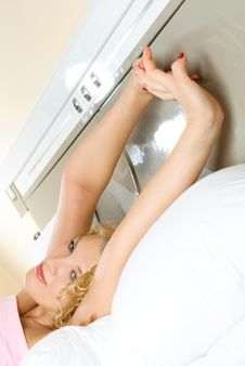 Free Beautiful Girl Waking Up And Stretching Stock Photos - 8821913