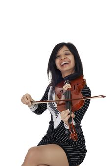 Sexy Indian Musician Stock Photography