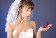 Free Young Bride With Wedding Rings Royalty Free Stock Photo - 8822235
