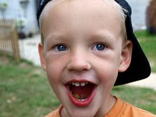 Cute Happy Smiling Young Boy - All OK Royalty Free Stock Photography