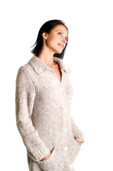 Free Woman In A Knitted Garment Royalty Free Stock Photography - 8824747