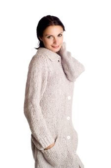 Free Woman In A Knitted Garment Stock Photos - 8824753