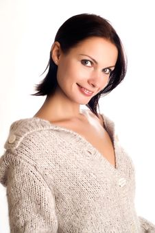 Free Woman In A Knitted Garment Royalty Free Stock Photos - 8824758