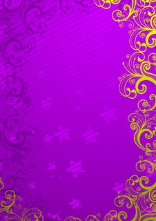 Free Vector Illustration Of Floral Background Stock Photo - 8825110