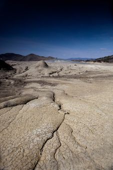 Mud Volcanoes In Buzau, Romania Royalty Free Stock Images