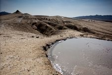 Mud Volcanoes In Buzau, Romania Royalty Free Stock Photos