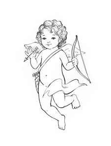 Free Angel Baby Sketch Stock Photography - 8825632