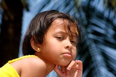 Free Girl Brooding Deep Royalty Free Stock Photography - 8825787