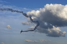 Free Dream Flight, Airplane With Smoke Trail Stock Photography - 8826552