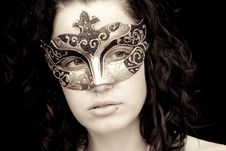 Free Masked Woman Royalty Free Stock Images - 8826589