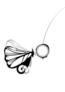 Free Black Butterfly And Berry Stock Photography - 8826692