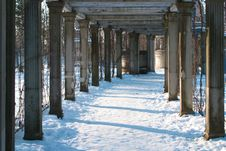 Free Winter Colonnade Stock Images - 8827204