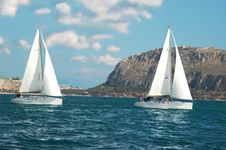 Free Yachts Near The Cost Stock Photography - 8828202