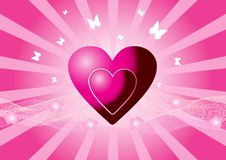 Free Pink Vector Hearts Stock Image - 8828461