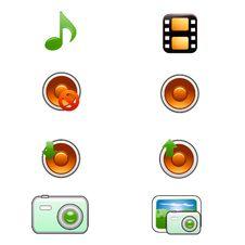 Free Media Icons Stock Photography - 8828992