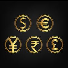Free International Currency Icon Collection Royalty Free Stock Image - 88236586