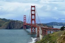 Free Golden Gate Bridge From The GG Overlook Royalty Free Stock Photography - 88262767