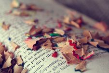 Free Pencil Shavings On Book Royalty Free Stock Photo - 88264075