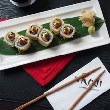Free Sushi On Plate Royalty Free Stock Photo - 88264455