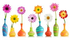 Free Colorful Flowers In Vases Stock Photos - 88264673