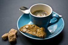 Free Blue And White Coffee Mug Near Brown Cookie Stock Photos - 88265633