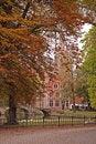 Free Belgium Autumn In Brugge Church  Bridge Stock Photography - 8831502