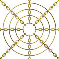 Free Target Abstract Golden Chain Stock Photography - 8832992