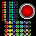 Free Set Of Multi-coloured Buttons With Boards Royalty Free Stock Image - 8836736